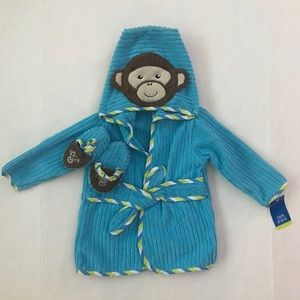New monkey baby robe and slippers